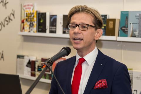 Martin Krafl auf der Leipziger Buchmesse 2018.